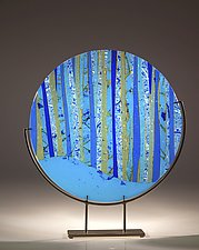 Ocean Glass Sculpture by Varda Avnisan (Art Glass Sculpture)