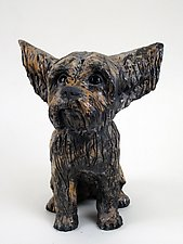 Yorkie by Ronnie Gould (Ceramic Sculpture)