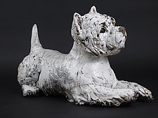 Resting Westie by Ronnie Gould (Ceramic Sculpture)