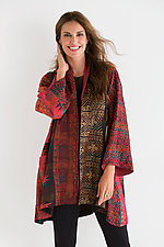A-Line Silk Jacket by Mieko Mintz  (Silk Kantha Jacket)