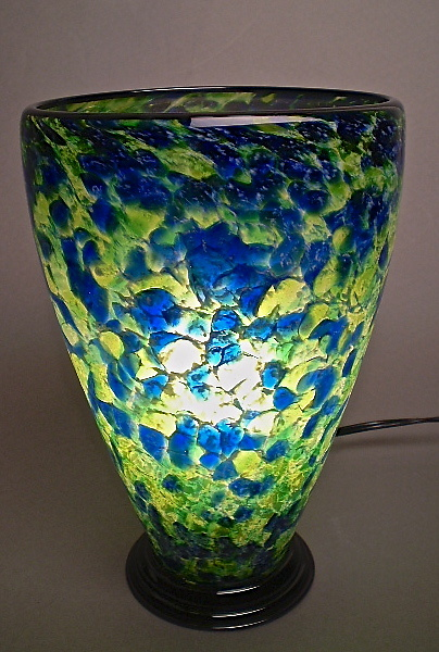 Blue and Light Green Table Lamp