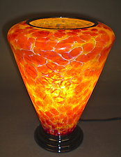 Gold and Rose Table Lamp by Curt Brock (Art Glass Table Lamp)