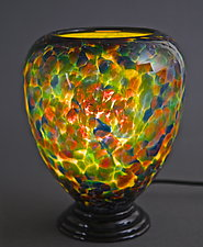 Multi Color Table Lamp by Curt Brock (Art Glass Table Lamp)