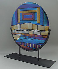 Neolithicum by Sabine  Snykers (Art Glass Sculpture)