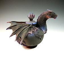 Black Dragon Tea II by Nancy Y. Adams (Ceramic Teapot)
