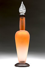 Tropical Tangerine by Eric Bladholm (Art Glass Bottle)