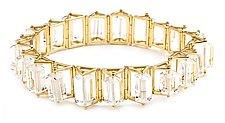 Spinning Quartz Bracelet by Patricia Madeja (Gold & Stone Bracelet)
