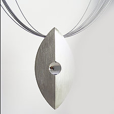 Echo Pendant by Claudia Endler (Silver Necklace)