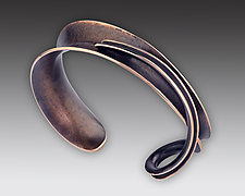 Petite Overlay Cuff in Bronze by Nancy Linkin (Bronze Bracelet)