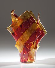 Venice Art Glass Vase by Varda Avnisan (Art Glass Vase)